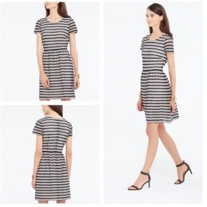 Ann Taylor Stripe Eyelet Flare Dress